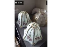 3 x Tiffany style, glass ceiling lamp shades