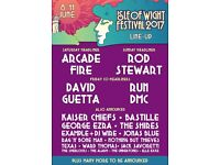 2 x Isle of Wight Festival Tickets - Weekend (Includes Camping & Parking)