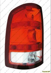 Tail Lamp Driver Side Exclude Base/Dually/Denali Without Dark Red Trim With Large 3047 Back-Up Bulb GMC Sierra 2007-2013