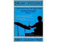 Drum Lessons with Siggy Watt BMus - teacher