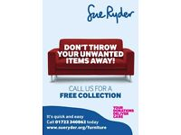 WANTED: Looking to donate your furniture to charity? Free Collections* Sue Ryder Salisbury SP2 7TL