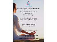 Ecstatic Yoga in Glasgow Southside