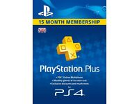 PlayStation PS Plus 15 Month Subscription Code Key