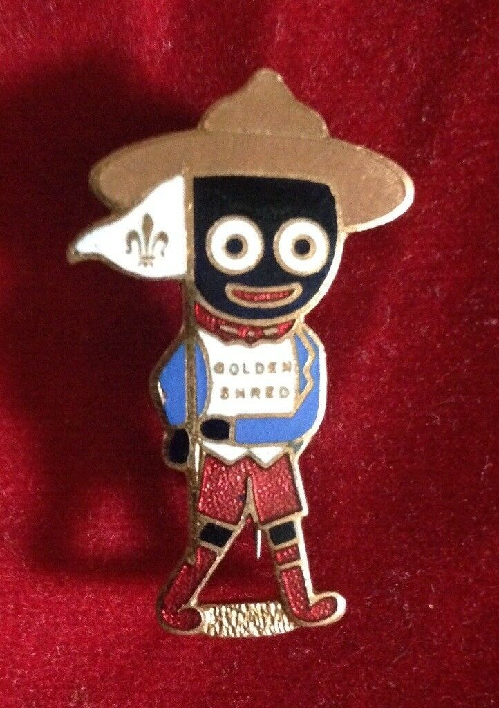 Robertson's Golly Badge - SCOUT (Brown Hat) - by maker Miller c1950s
