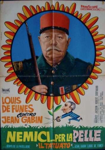 LE TATOUE Italian 1F movie poster B LOUIS DE FUNES JEAN GABIN 1968