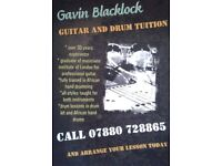 Gavin Blacklock guitar and drum tuiton