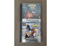 Crash Bandicoot 2 & 3 for Playstation PS1 - Excellent condition