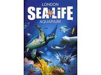 * HALF PRICE * SEALIFE LONDON AQUARIUM - 2 ADULT + 1 CHILD TICKETS - VISIT ANY DAY UP TO 01/03/17