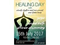 Healing Day, New Buckenham, 15th July 2017, Yoga, African Drumming, Sound Bath