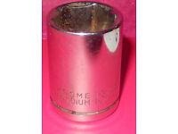 """used metallic 13/16"""" chrome vanadium six point socket"""