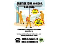 Fogging & Sanitising Deep Cleaning Service for Domestic & Business COVID-19 Specialists