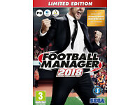 Football Manager 2018 Limited Edition (PC DVD) Sealed