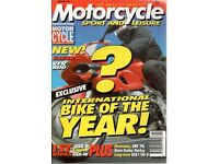 Motorcycle Sport and Leisure Magazines - bound volumes.
