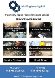 Any type of industrial machinery repair and maintenance
