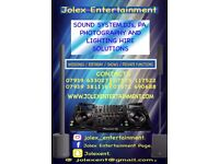 Jolex Entertaintment we hire Dj's and Equipments.