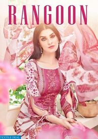 SARGAM RANGOON WHOLESALE DESIGNER PRINT DRESS MATERIAL