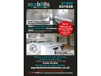 FREE !! 500x700 Heated Chrome Towel Rail ...... + AQUA BATHROOMS 10% OFFER