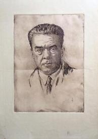 Old Czech Etching