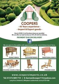 Coopers, teak garden furniture/ olive trees and more