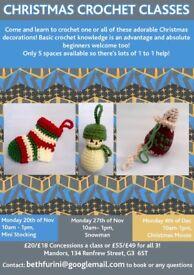 Christmas Crochet Class - Mini Stocking 20th of November