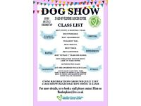 Charity dog show in aid of Velindre cancer centre.