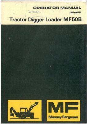Massey Ferguson Tractor Loader Digger Mf50b Manual 50b