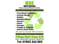 Rubbish removal / house clearance