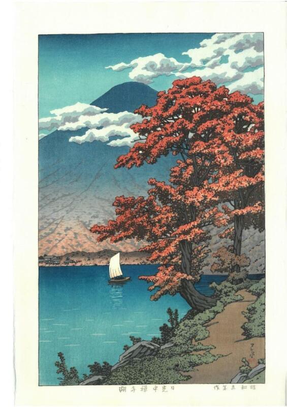 Kawase Hasui - #HKS-13 Nikko Chuzenji ko - Japanese Traditional Woodblock Print