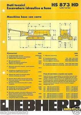 Equipment Brochure - Liebherr - Hs873hd - Crane Excavator Bucket Base Eb927
