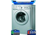Rapid Wash, 1200 Spin, Silver, Indesit washing Machine, A, Factory Refurbished inc 6 Months Warranty