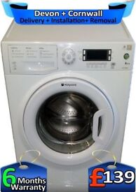 Hotpoint Washing Machine, LCD, Fast 1400, A+ Rated, 7Kg, Factory Refurbished inc 6 Months Warranty