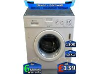 Integrated, 1100 Spin, 5.5kg Drum, Candy Washing Machine, Factory Refurbished inc 6 Months Warranty