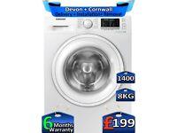 1400 Spin, 8kg Drum, Samsung Washing Machine, Inverter, Factory Refurbished inc 6 Months Warranty