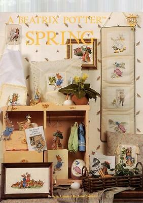 A BEATRIX POTTER SPRING CROSS STITCH CHART PATTERN BOOKLET JANET POWERS