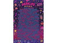 Parklife 2017 standard Saturday tickets
