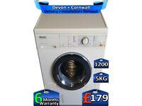 Fast Wash, 1200 Spin, Auto Door, Miele Washing Machine, Factory Refurbished inc 6 Months Warranty