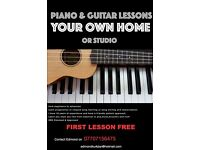 PIANO & GUITAR LESSONS CATERED FOR YOU