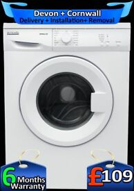 6kg Drum, Pro-Action Washing Machine, Quick Wash, 15 Min, Factory Refurbished inc 6 Months Warranty
