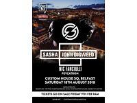 2 x Sasha John Digweed tickets custom house square 18th August