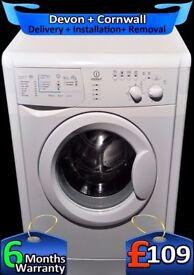 5.5Kg Drum, 1100 Spin, Indesit Washing Machine, Daily Wash, Fully Refurbished inc 6 Months Warranty