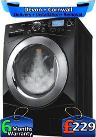 Steam, Huge 9KG, Fast 1400, No belt, LG Washing Machine, Factory Refurbished inc 6 Months Warranty