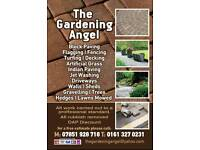 Flagging, Fencing, Block paving, Driveways, Turfing, Patios, Decking, Gardening, Rubbish Removals