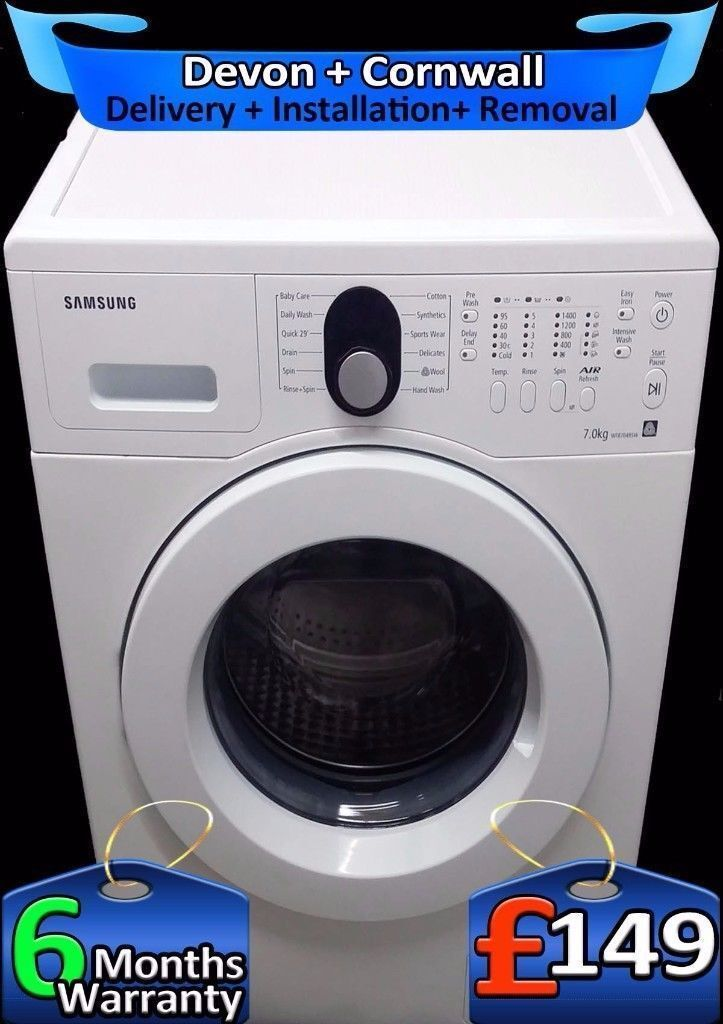 Air Refresh Tech, Samsung Washing Machine, Big 7Kg, 1400, Fully Refurbished inc 6 Months Warranty