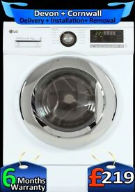 Big 8Kg, Fast, Top Tech, Direct Drive, LG Washer Dryer, Factory Refurbished inc 6 Months Warranty