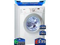 7kg Drum, Gorenje Washing Machine, Fast Wash, 1400 Spin, Factory Refurbished inc 6 Months Warranty