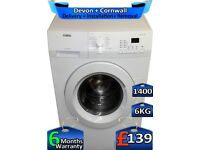 AEG Washing Machine, 1400 Spin, 6kg Drum, Factory Refurbished inc 6 Months Warranty