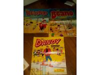 Dandy & Beano comics & 2 hard back Beano books