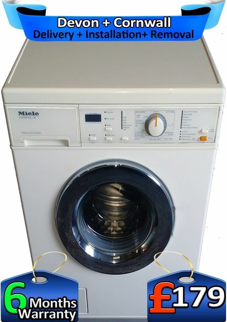 Top Tech, 1200 Spin, Express Wash, Miele Washing Machine, Factory Refurbished inc 6 Months Warranty