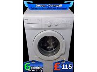 Fast Beko 1300 spin, Big 6Kg Drum, Time Save, A+ Rated, Fully Refurbished inc 6 Months Warranty