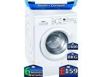 8kg Drum, 1400 Spin, LED, Siemens Washing Machine, Factory Refurbished inc 6 Months Warranty